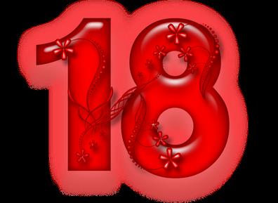 Открытки с Днем рождения на 18 лет скачать бесплатно | Дарлайк.ру | 289x396